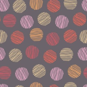 pebble dots in orange red