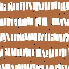 Minimal piñata paper confetti party abstract cut out stripes fall cinnamon neutral