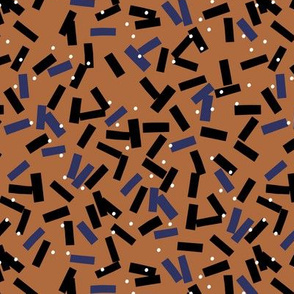 Minimal birthday paper confetti party abstract cut out stripes fall winter cinnamon blue black