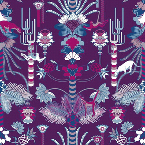 Jungle Fantasy (Plum/Fuschia)