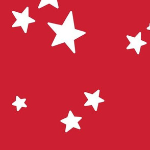 stars lg white on red || independence day USA american fourth of july 4th