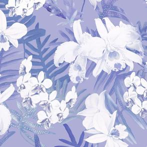 Vintage White Orchids Lavender 300