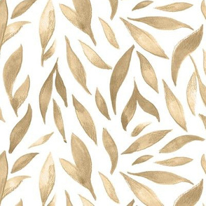 Watercolor Leaves - Cappuccino