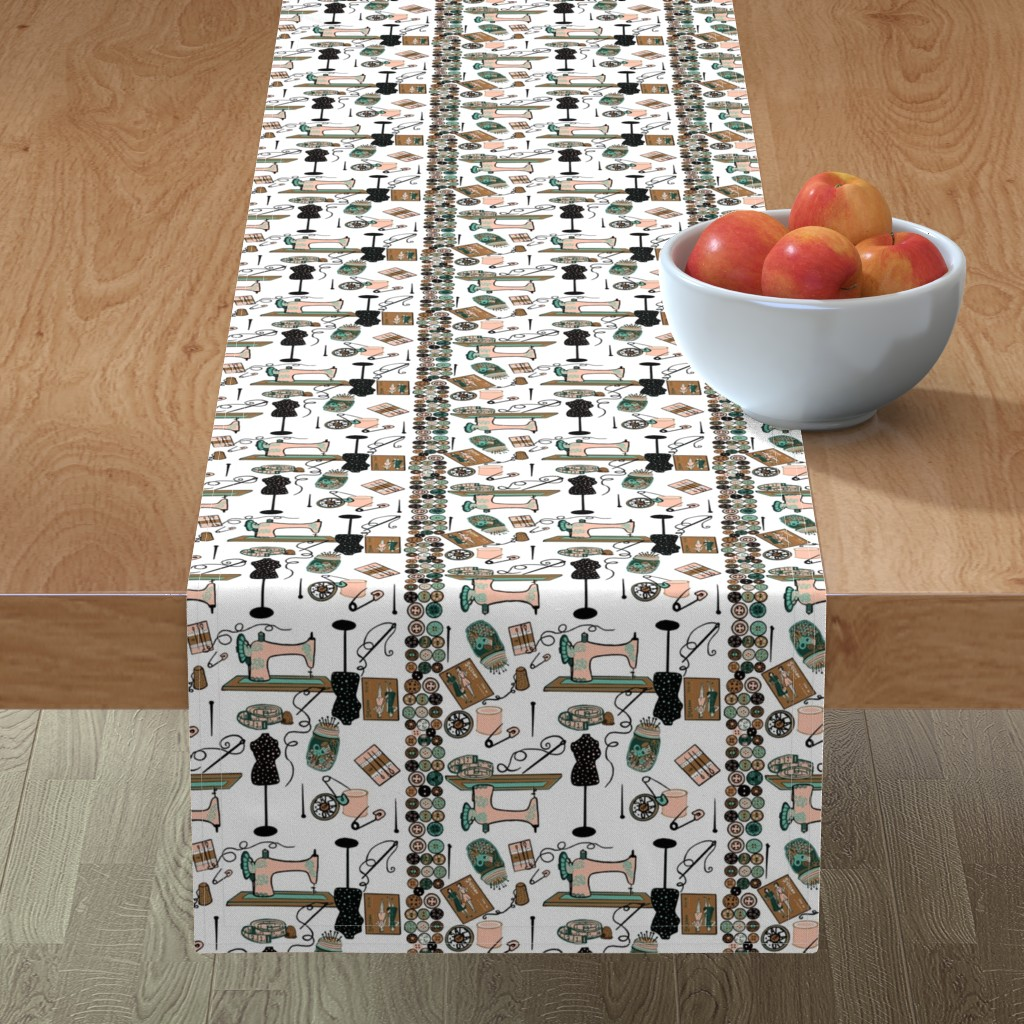 Minorca Table Runner featuring I heart Sewing! by salzanos