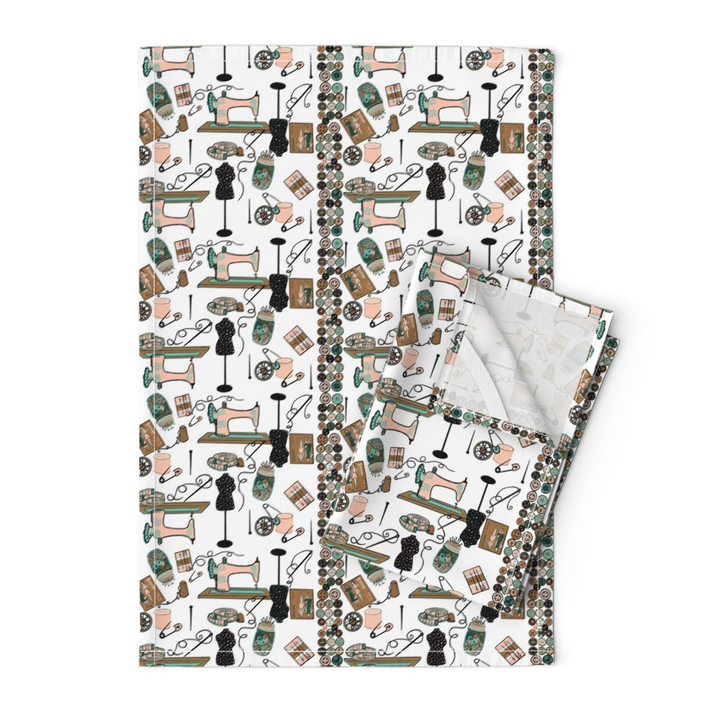 Orpington Tea Towels featuring I heart Sewing! by salzanos