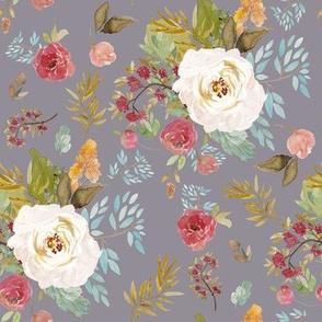 "8"" Rustic Autumn Garden Soft Grey"