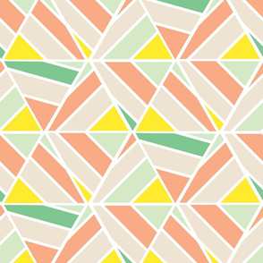 Geometric Pastel Triangles