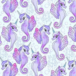Lavender Sea Unicorns
