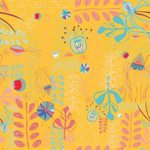 Deep Sea Creatures  - yellow