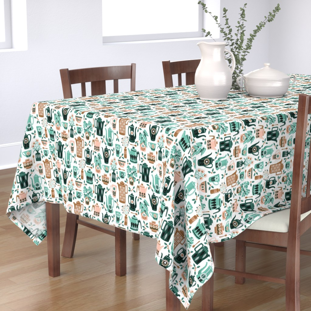 Bantam Rectangular Tablecloth featuring Coffee time by emma_heeson_design