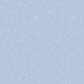 Annabelle - cream on sky blue