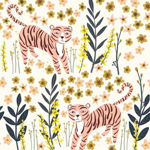 "10"" Pink Tiger - Ivory"