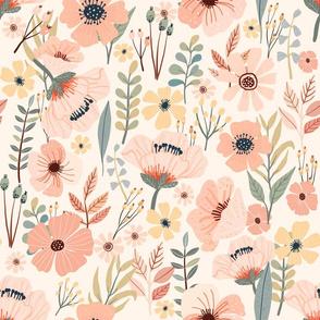 """16"""" Soft Pink Garden - Ivory"""
