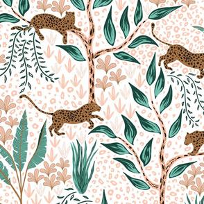 leopard jungle - limited palette - large scale