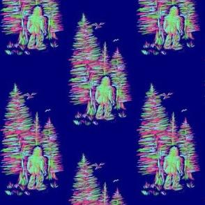 Bigfoot Neon Nighttime - Small Scale