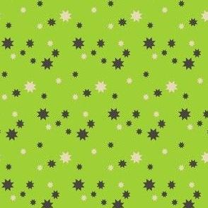 Stars On Neon Green
