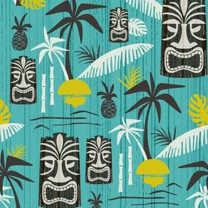 Island Tiki - Aqua