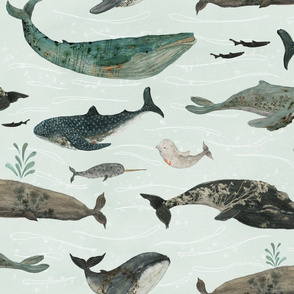 tattooed whales {large}