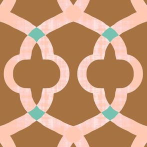 Intertwine / Bronze and Blush Pink