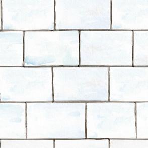 Watercolor Faux Subway Tile