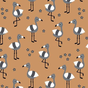 Little flamingo island tropical summer birds fall cinnamon copper gray boys