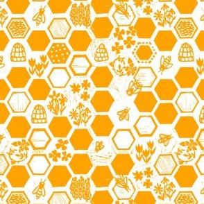 Honey coloured honeycomb