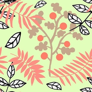 Leaf romance pastel