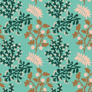 Rose forest teal small