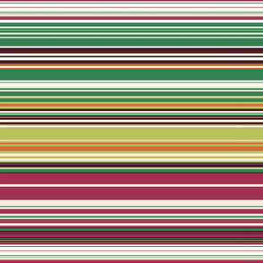 Colorful stripes |  19 – dark green , orange, bordeaux