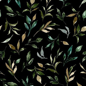 Botanical Leaves Garden - Black