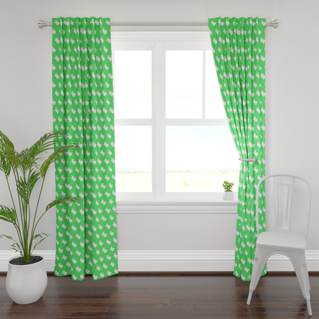 Plymouth Curtain Panel featuring bunnywunny by giolou