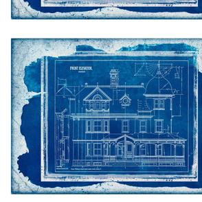 Cyanotype Photo House blueprint