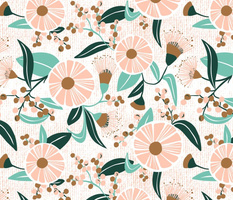 Madelyn - White Botanical Floral Large Scale