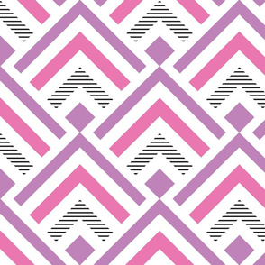 Geometric Mountains-pink