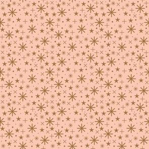 starry sky  | bronze on rosé