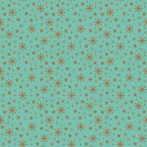 starry sky  | bronze on spearmint