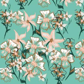 Mint flower garden