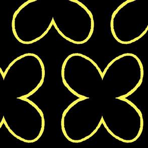 Open Yellow Petals