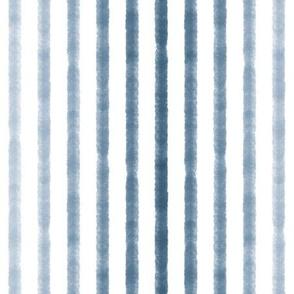 Watercolor Stripe - Navy