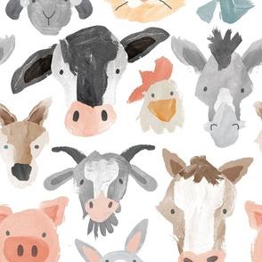 Watercolor Stripe - Light Blue