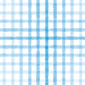 Watercolor Plaid - Light Blue