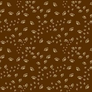 My paw pal prints - brown tan