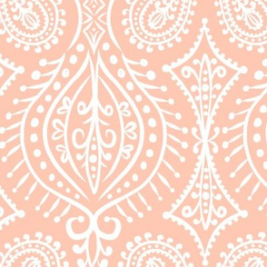 Marrakech - Paisley Blush Pink Large Scale