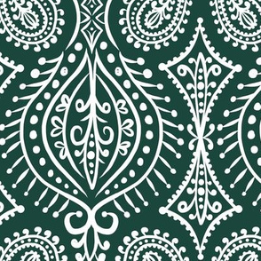 Marrakech - Paisley Forest Green Large Scale