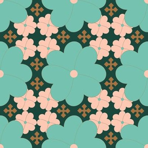 Floral Crosses on Forest