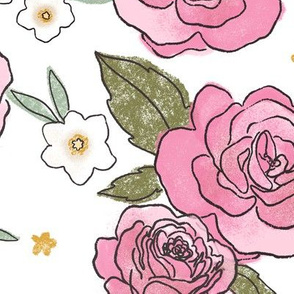Pink Roses - Larger Print