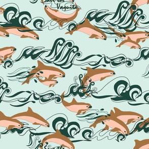 Save The Vaquita! on Pale Aqua