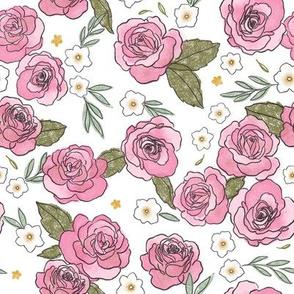 Pink Roses - Smaller Print