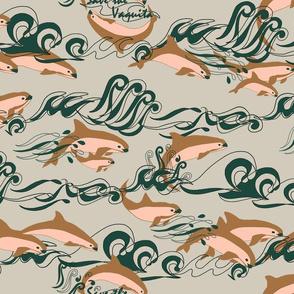 Save The Vaquita! on Taupe