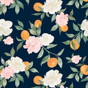 Kumquat bouquet navy
